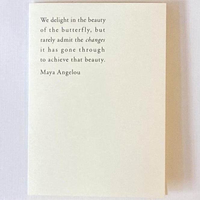 Maya Angelou Butterfly Quote Card