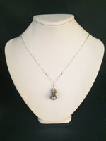 Load image into Gallery viewer, Chocolate and Silver Moonstone Necklace