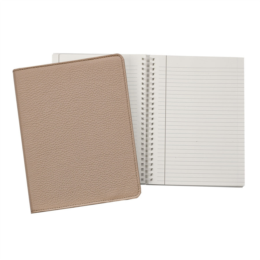 "9"" Wire-O-Notebook Goatskin Leather"