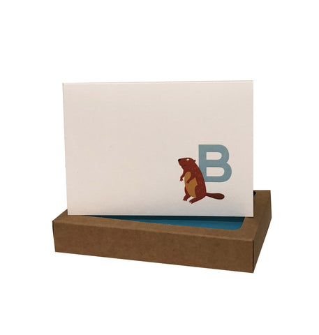 Kids Initial Note Cards