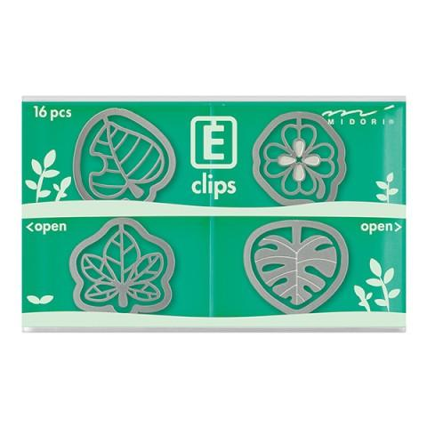 Midori Leaf Etching E-Clips 16 Count