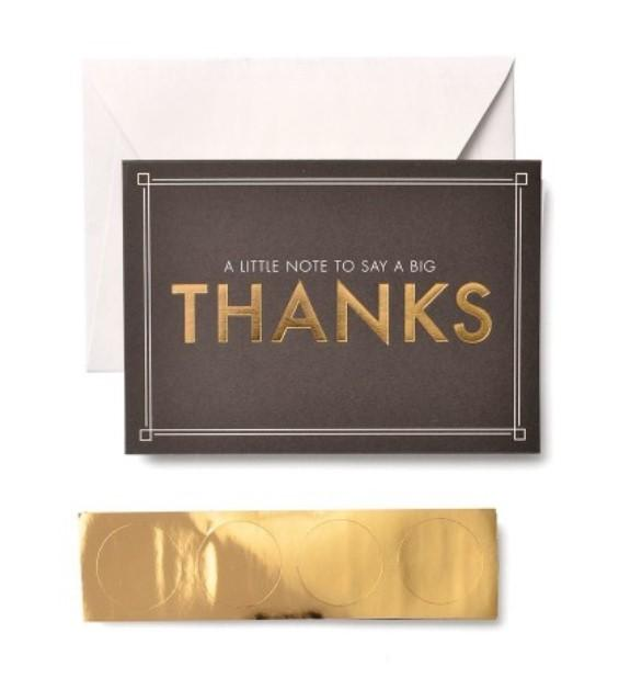 Little Note, Big Thanks Card Set with Seals