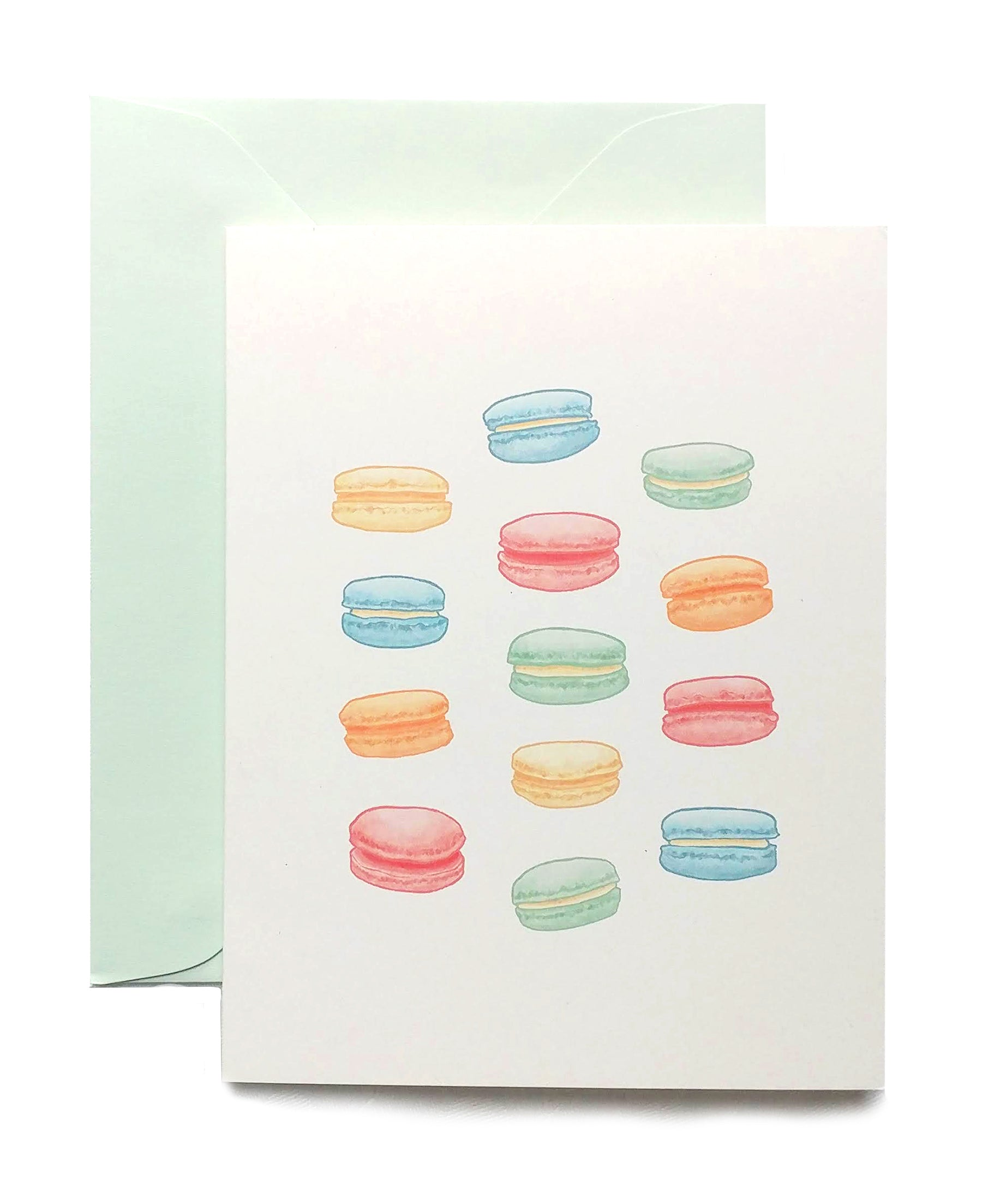 Macarons Folded Note Cards by Madam Puddle Duck, Set of 8