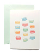 Load image into Gallery viewer, Macarons Folded Note Cards by Madam Puddle Duck, Set of 8