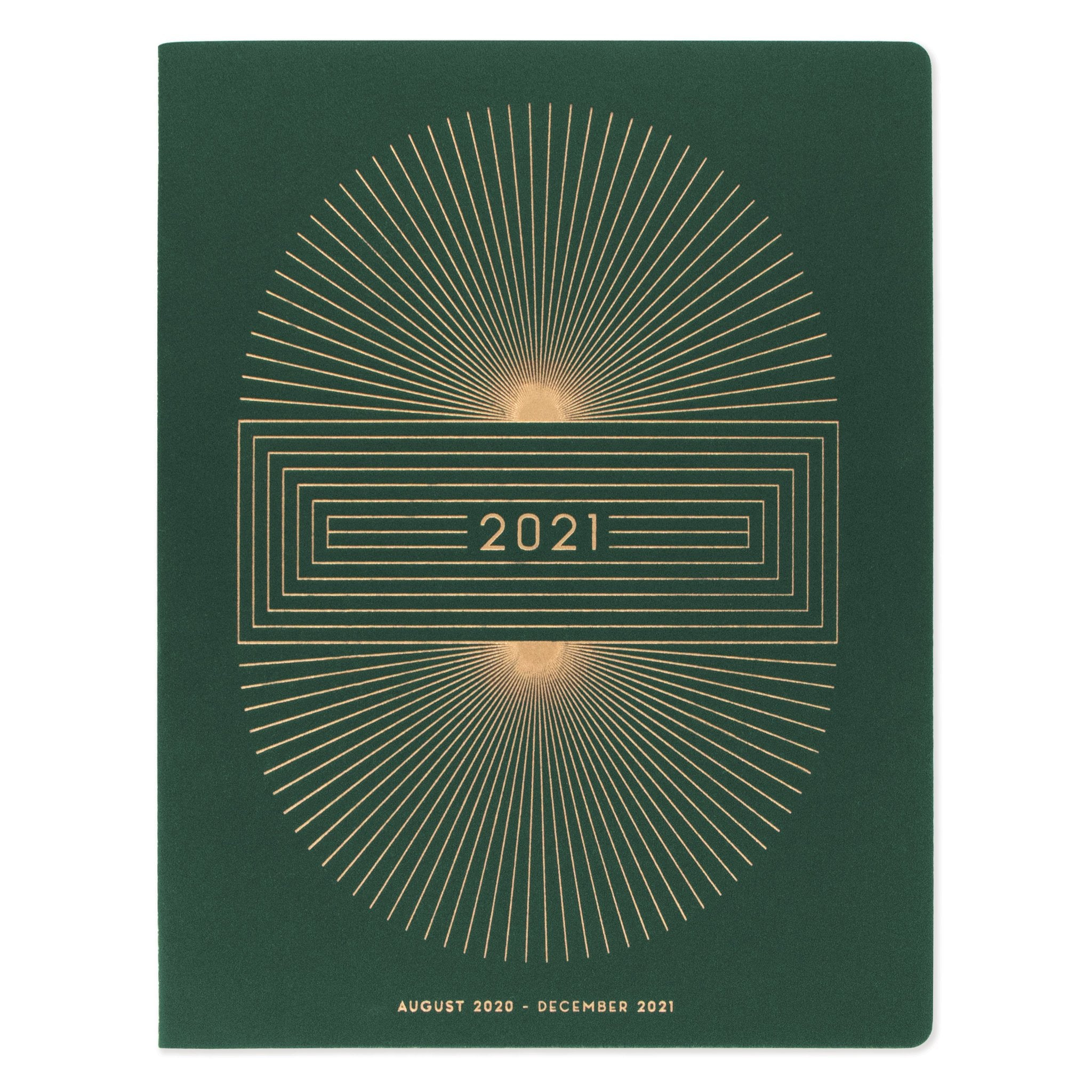 Large Cloth Simple Planner - 2021 Radiant Sun Block