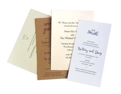 On Paper Press Express Invitations