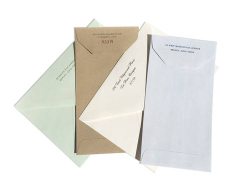On Paper Press Express Invitations - Optional Return Address