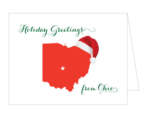 Ohio Santa Christmas Card
