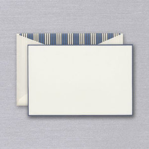 Crane French Blue Border Card