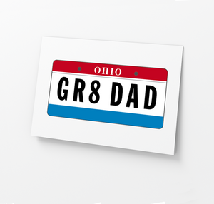GR8 DAD License Plate Father's Day Card
