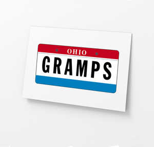 GRAMPS License Plate Father's Day Card