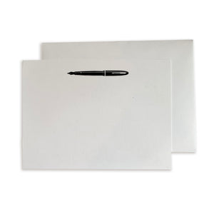 Fountain Pen Flat Note Cards