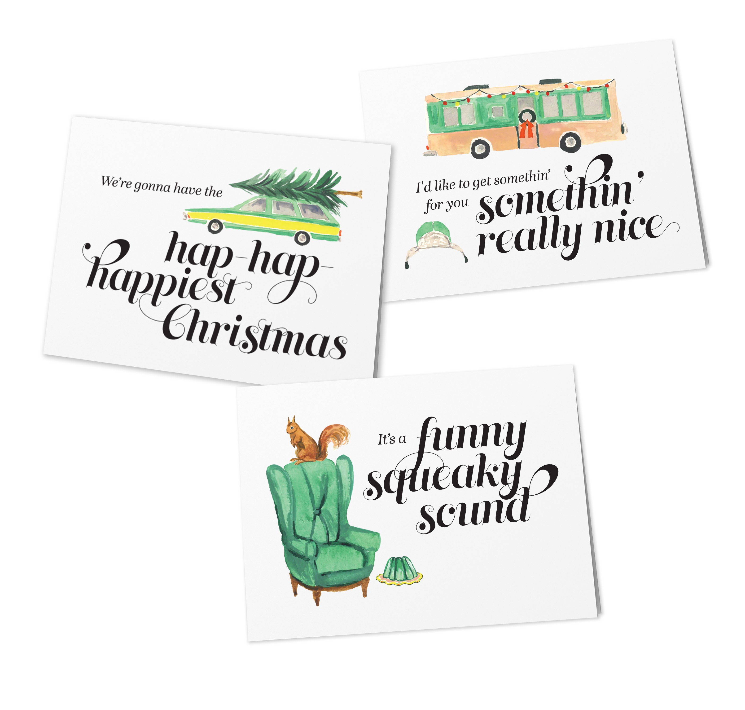 Vacation Themed Holiday Cards (Set of 9)