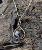 Load image into Gallery viewer, Smoky Quartz Drop Necklace