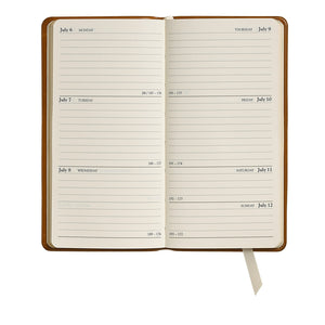 slim leather date book pocket planner