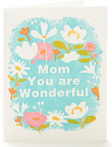 Mom You are Wonderful letterpress card