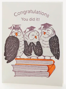 Owls Congrats You Did It Notecard