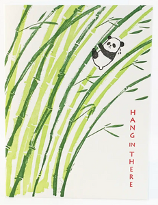 "Panda ""Hang in there"" Note Card"