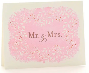 Mr. & Mrs Letterpress Card