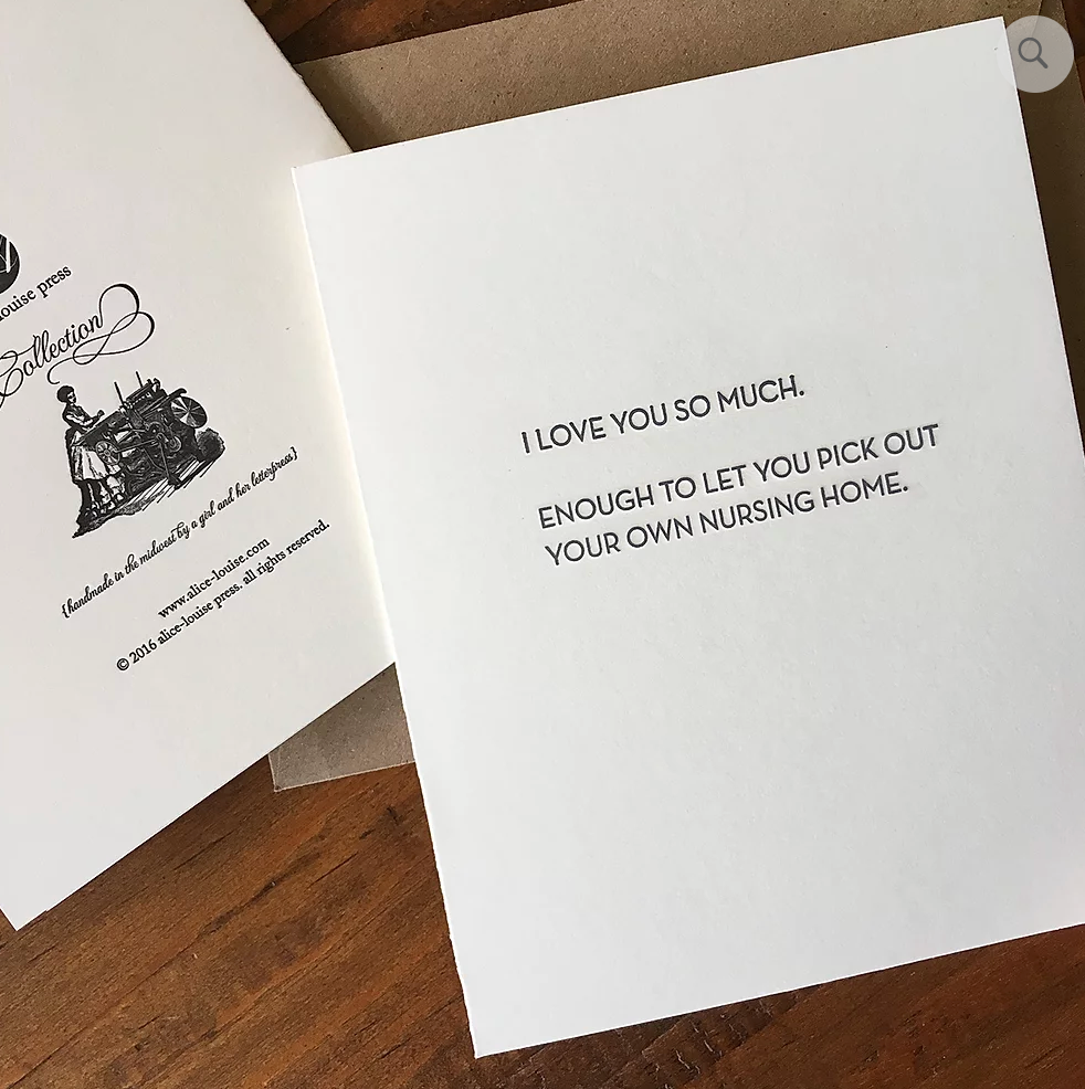 Nursing Home Letterpress Card