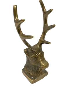 Antiqued Brass Stag Pen Holder