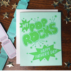 My Pop Rocks Father's Day Card