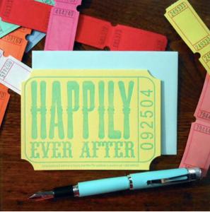 Happily Ever After Ticket Card