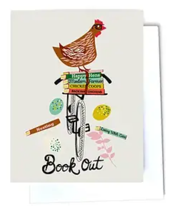 Book Out Hen On A Bike