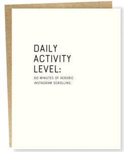 Daily Activity Level: 60 Minutes of Aerobic Instagram Scrolling