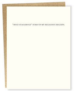 Religious Beliefs Card - One Left