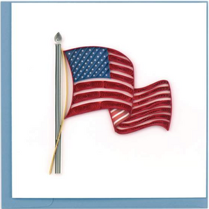 American Flag Quilling Card