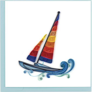 Sailboat Quilling Card
