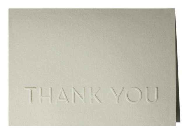 Thank You Note, Set of 6