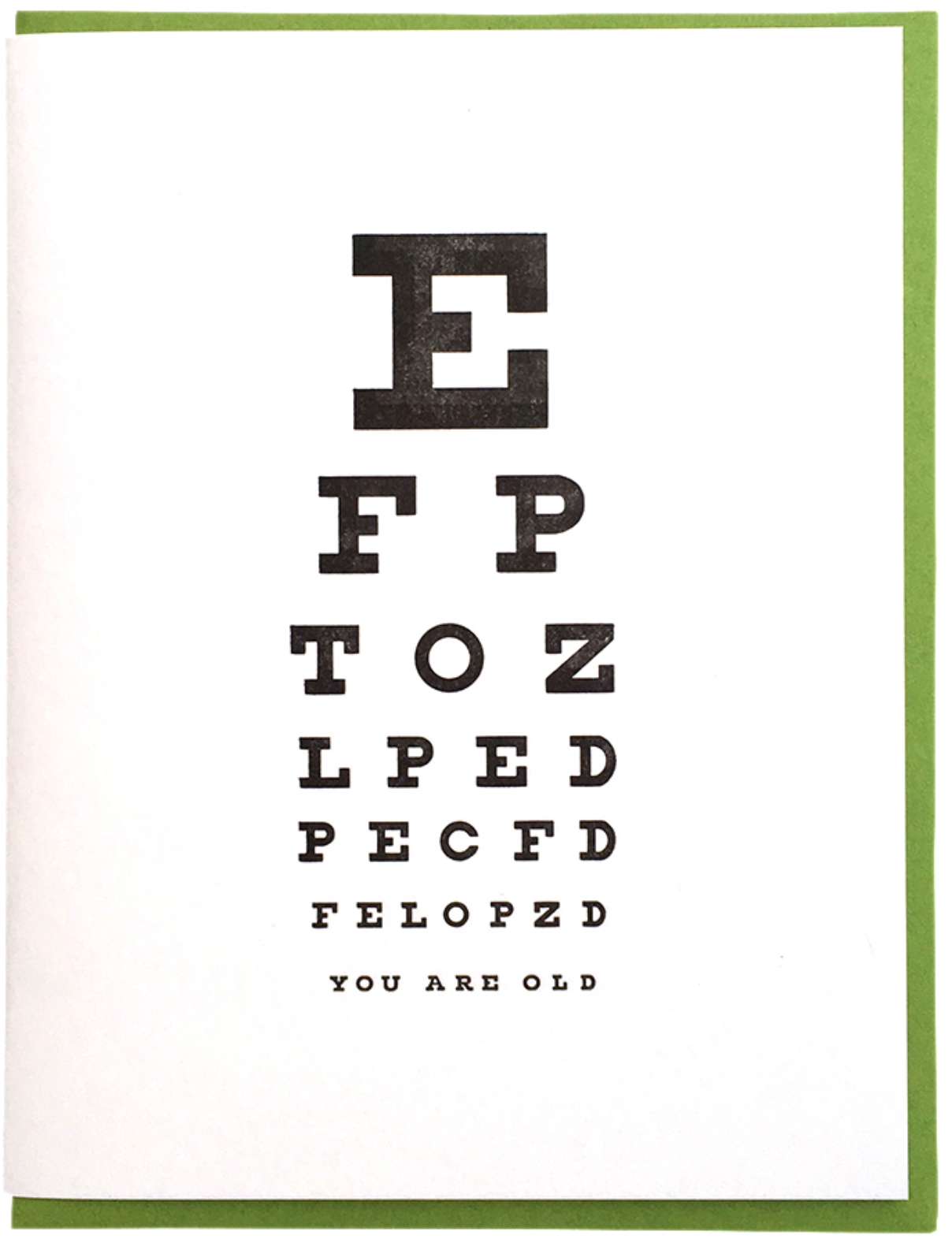 Eye Chart You Are Old