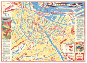 Vintage Style Map - Amsterdam