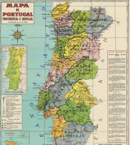 Vintage Style Map - Portugal