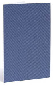 Blue Chevron Note Cards - Set of 10