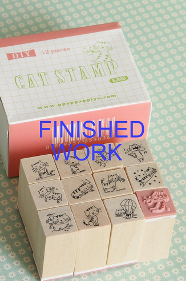 Kawaii Mini Cat Stamps