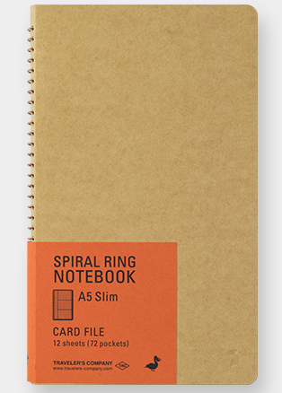 Traveler's Spiral Ring Notebook A5 Slim - Card File