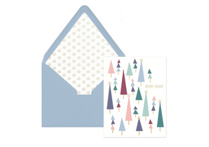 "Tiny Trees ""Merry Merry"" Holiday Card, set of 12"
