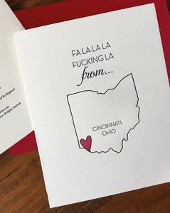 Local Fa La La From Columbus...Boxed Cards (Set of 6)