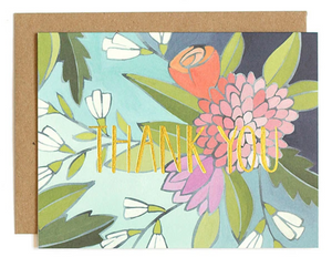 FLORAL FOIL THANK YOU - Boxed Set of 8