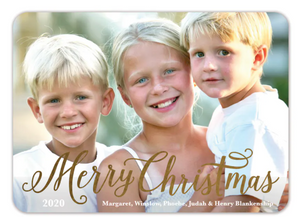 Simply Merry Foil Pressed Holiday Photo Card