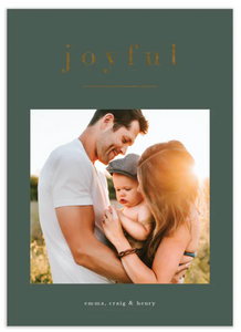 Just One Word Foil Pressed Digital Photo Card