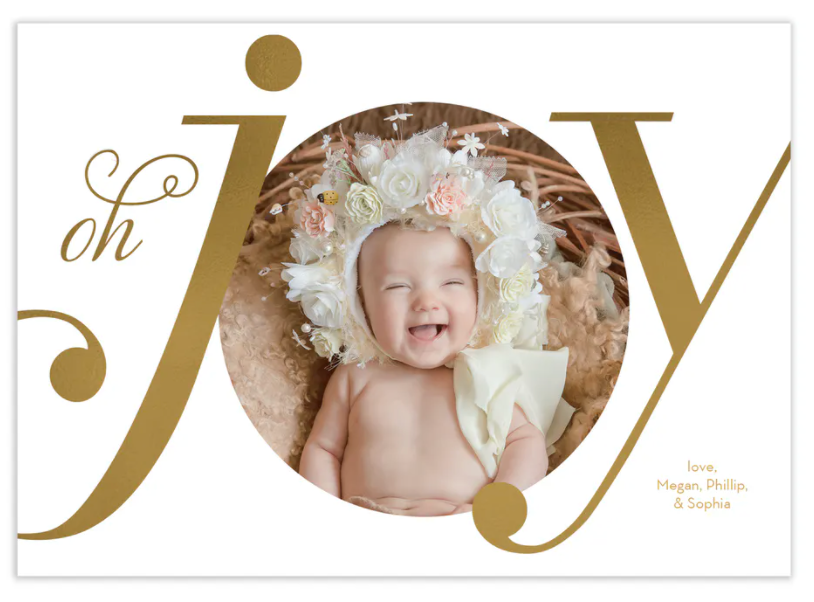 Oh Joy Foil Pressed Digital Photo Card