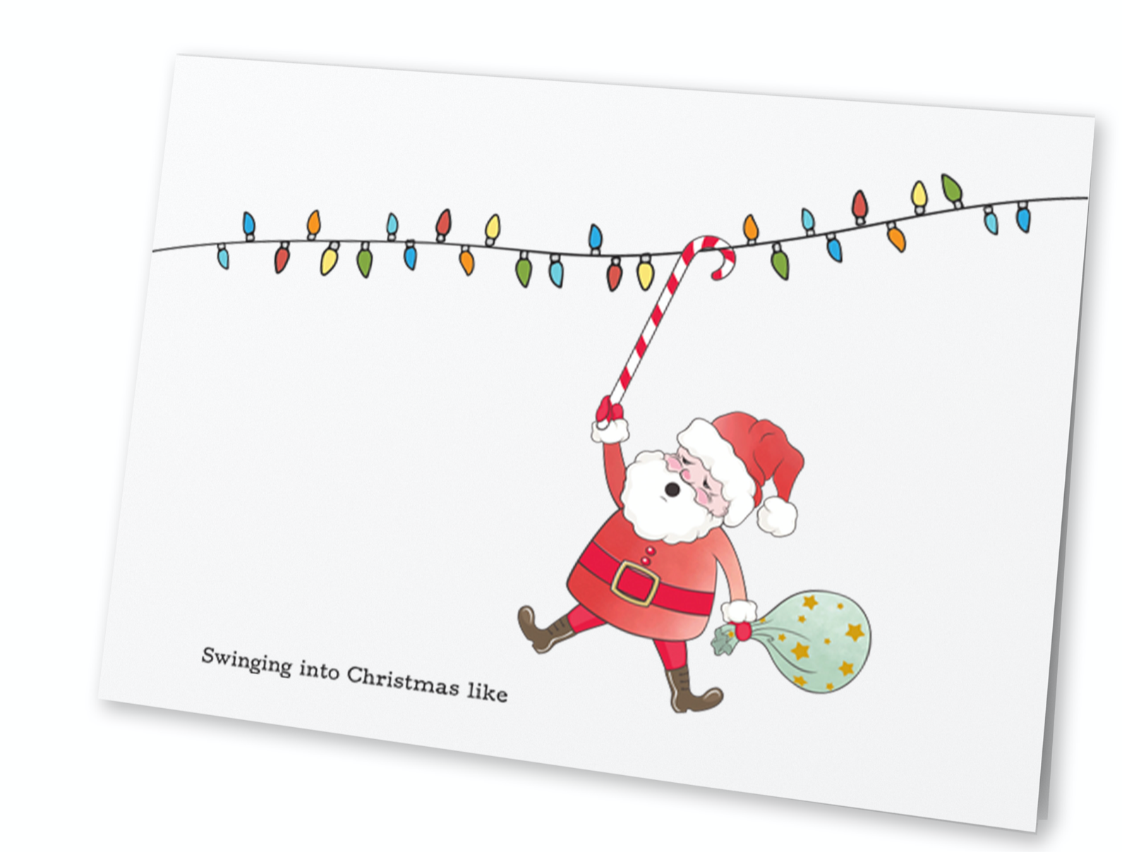 Santa Swinging Into Christmas Like (Set of 8)