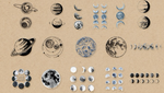 Load image into Gallery viewer, Moon Phase and Planet Planner Stickers