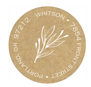 Sweet Sprigs Round Address Label
