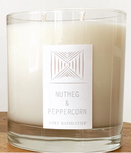 Nutmeg & Peppecorn, Black Label Rustic 11 oz Candle