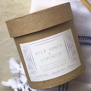 Wild Honey & Lavender, Black Label Rustic Candle